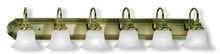 Livex Lighting 1006-01 - 6 Light Antique Brass Bath Light