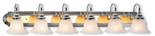 Livex Lighting 1006-52 - 6 Light Polished Chrome & PB Bath Light