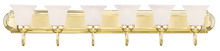 Livex Lighting 1076-02 - 6 Light Polished Brass Bath Light