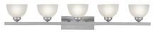 Livex Lighting 4205-91 - 5 Light Brushed Nickel Bath Light