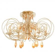 Varaluz 238S06GD - Elysse 6-Lt Crystal Ceiling Light