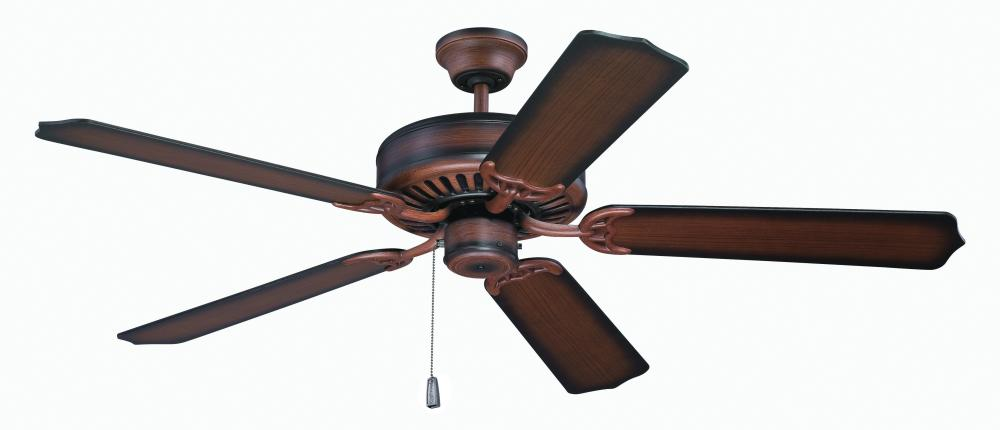 "Pro Builder 52"" Ceiling Fan Kit with Blades Included in Biscay Walnut"