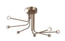 Craftmade 43088-SB-LED - Solis 8 Arm LED Flushmount in Satin Brass