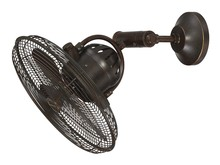 "Craftmade BW414AG3 - Bellows IV 14"" Cage Wall Fan in Aged Bronze Textured"