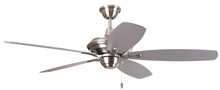 "Craftmade CN52SS5 - Copeland 52"" Ceiling Fan with Blades and Light in Stainless Steel"