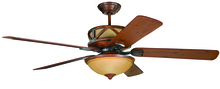 "Craftmade DL60DMI5CRW - Deer Lodge 60"" Ceiling Fan with Blades and Light in Dark Mahogany/Iron"