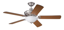 "Craftmade GM56BNK5LK - Gambrel 56"" Ceiling Fan with Blades and Light in Brushed Polished Nickel"