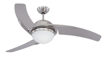 "Craftmade JU54SS3 - Juna 54"" Ceiling Fan with Blades and Light in Stainless Steel"