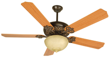 "Craftmade K10619 - Cecilia Unipack 52"" Ceiling Fan Kit with Light Kit in Oiled Bronze Gilded"