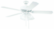 "Craftmade K10632 - Pro Builder 203 52"" Ceiling Fan Kit with Light Kit in White"
