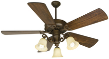 "Craftmade K10674 - CXL 52"" Ceiling Fan Kit with Light Kit in Aged Bronze Textured"