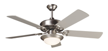 "Craftmade K10675 - CXL 52"" Ceiling Fan Kit with Light Kit in Brushed Satin Nickel"