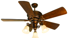 "Craftmade K10751 - Riata 52"" Ceiling Fan Kit with Light Kit in Burnt Sienna"