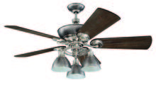 "Craftmade K11065 - Timarron 54"" Ceiling Fan Kit with Light Kit in Brushed Polished Nickel"