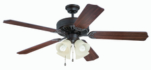 "Craftmade K11109 - Pro Builder 204 52"" Ceiling Fan Kit with Light Kit in Aged Bronze Textured"