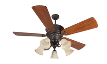 "Craftmade K11155 - Riata 52"" Ceiling Fan Kit with Light Kit in Aged Bronze Textured"