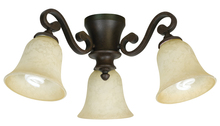 Craftmade LK35CFL-AG - 3 Light Universal Fan Light Kit in Aged Bronze Textured with Antique Scavo Glass