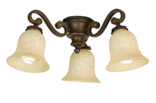 Craftmade LK44CFL-AG - 3 Light Universal Fan Light Kit in Aged Bronze Textured with Antique Scavo Glass