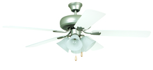 "Craftmade PD52BP5C4 - Piedmont 52"" Ceiling Fan with Blades and Light in Brushed Pewter"