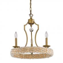 Acclaim Lighting IN11011RB - Ava Indoor 3-Light Mini Chandelier w/Crystal Pendant In Raw Brass