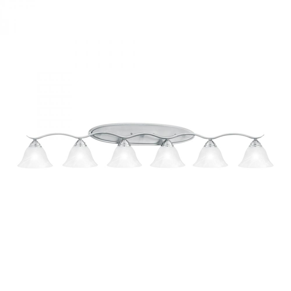 PRESTIGE wall lamp Brushed Nickel 6x100