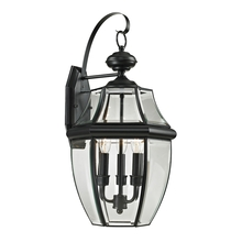 Thomas 8603EW/60 - Ashford 3 Light Outdoor Wall Sconce In Black