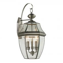 Thomas 8603EW/80 - Ashford 3 Light Outdoor Wall Sconce In Antique N