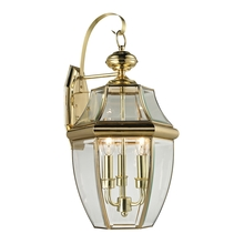 Thomas 8603EW/85 - Ashford 3 Light Outdoor Wall Sconce In Antique B