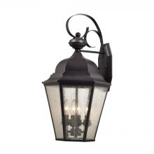 Thomas 8903EW/75 - Cotswold 4 Light Outdoor Wall Sconce In Oil Rubb