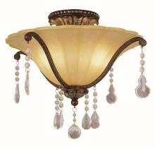 "Trans Globe 3963 - Chatsworth 17.75"" Semiflush"