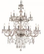 "Trans Globe HU-18 PC - Zircon 36.5"" Chandelier"