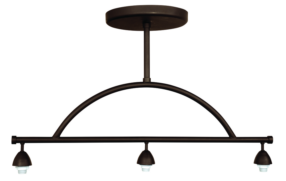 Design-A-Fixture 3 Light Island Hardware in Aged Bronze