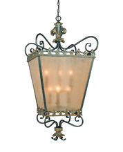 Jeremiah 10838-FG - Six Light Framed Glass Foyer Hall Fixture