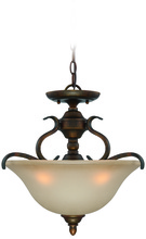 Jeremiah 29053-BBZ - McKinney 3 Light Convertible Semi Flush/Pendant in Burleson Bronze