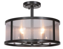 Jeremiah 36754-MBK - Danbury 4 Light Semi Flush in Matte Black