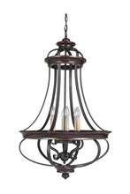 Jeremiah 38736-AGTB - Stafford 6 Light Foyer in Aged Bronze/Textured Black
