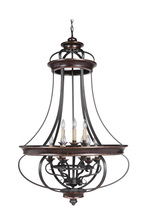 Jeremiah 38739-AGTB - Stafford 9 Light Foyer in Aged Bronze/Textured Black