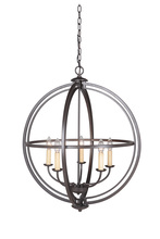 Jeremiah 40135-ESP - Berkeley 5 Light Foyer in Espresso