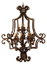 Jeremiah 8133AG12 - Riata 12 Light Cage Foyer in Aged Bronze Textured
