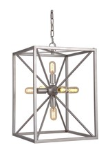 Jeremiah P630AO6 - Pendant 6 Light Pendant with Chain in Athenian Obol