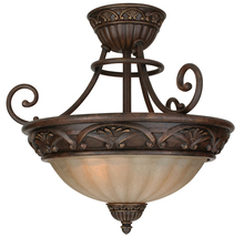 Jeremiah X5816-AG - Barcelona 3 Light Semi Flush in Aged Bronze