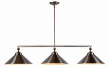 Kenroy Home 93247BS - Conical 3 Light Island Light