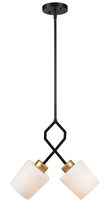 Kenroy Home 93872BL - Draper 2 Light Pendant