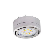 Canarm 3580LED-PL1NKL-C - Undercabinet, 3580LED-PL1NKL-C, 120v Linkable LED Puck Light, Nickel,1 Light Kit, 8 LEDs,3000K, 275L