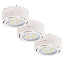 Canarm 3580LED-PL3WHT-C - Undercabinet, 3580LED-PL3WHT-C, 120v Linkable LED Puck Light, White,3 Light Kit,8 LEDs, 3000K,  825L