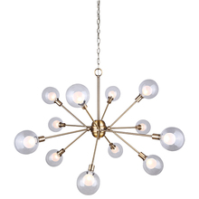 "Canarm ICH683A12GD9 - ESTELLA, ICH683A12GD9, 12 Lt Chain Chandelier, Double Glass, 40W Type G9, 43 3/4"" W x 25 1/2&#34"