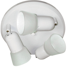 Canarm ICW5311 - Omni, ICW53 WH, Triple Head Ceiling/Wall, Frosted Glass, 60W A15 or R16