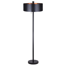 "Canarm IFL440B62BK - OXYURA, IFL440B62BK, 2 Lt Floor Lamp, Pull Chain Switches, 100W Type A, 19 3/4"" W x 62"" H"
