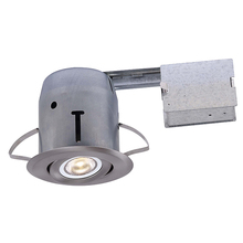 Canarm RD43RG2BN-LED - Recessed, RD43RG2BN-LED, IC and Non-IC REMODEL, Gimbal Trim, 1 x Bymea 8W 500Lumen 3000K PAR20 Bulb