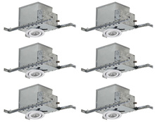 "Canarm RI4NC2TGWH-6 - Recessed, RI4NC2TG WH-6, 4"" Insulated with Tilting Gimbal Trim (T4TG02WH), 6-Pack Box, New Const"